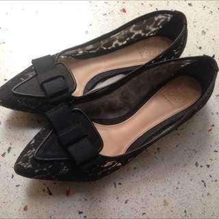 Tory Bruch蕾絲蝴蝶平底鞋