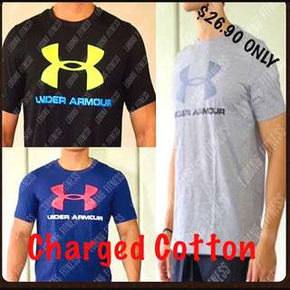 📦BRAND NEW📦 Under Armour Charged Cotton Sport style Tee Cheap