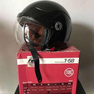 TORC T58 carbon Jet Helmet M 57-58 vespa scomadi cafe racer harley davidson triumph kawasaki