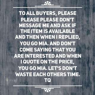 Serious Buyers Only!