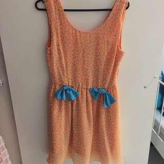 Orange Skater Dress With How's