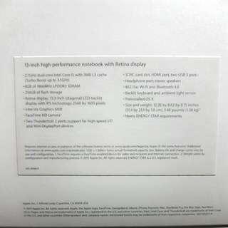 Macbook Pro 13 Inch 2015 (256 GB)