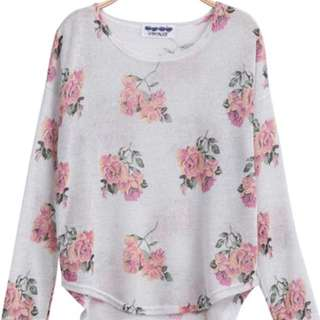 Floral Knitted Top