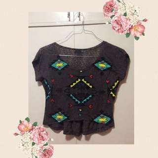 FREE SF MM FOREVER 21 Black Top