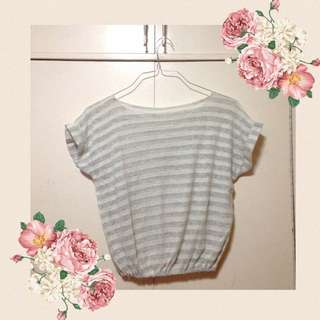 FREE SF MM NEW Striped Knit Croptop