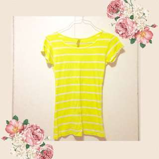 FREE SF MM Neon Yellow Striped Top