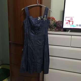 🚚 薄的牛仔洋裝M尺寸材質柔軟
