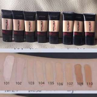 Loreal Infallible Pro Matte 24hr Foundation