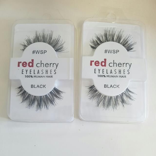 2 X Red Cherry Eyelashes Wsp Health Beauty Nail Care Others