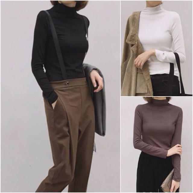 韓版熱門款高領素色毛衣