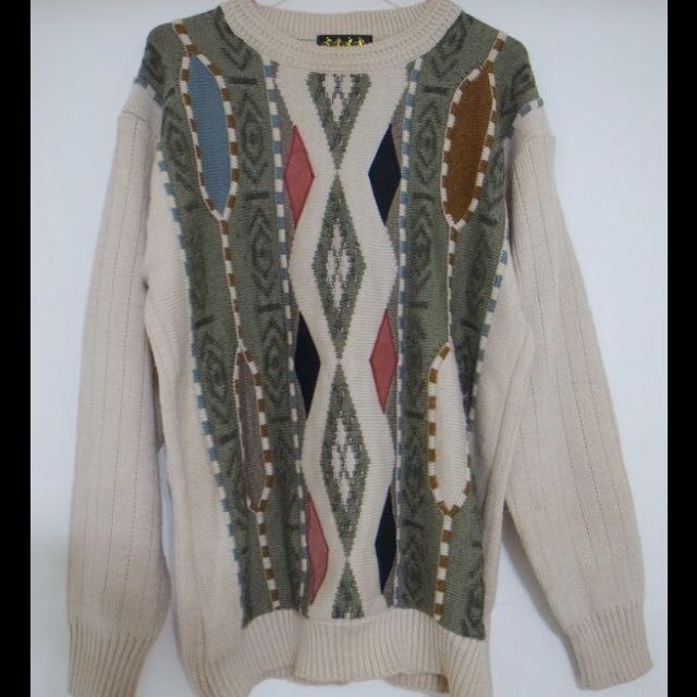 古著森林系立體組織針織衫毛衣