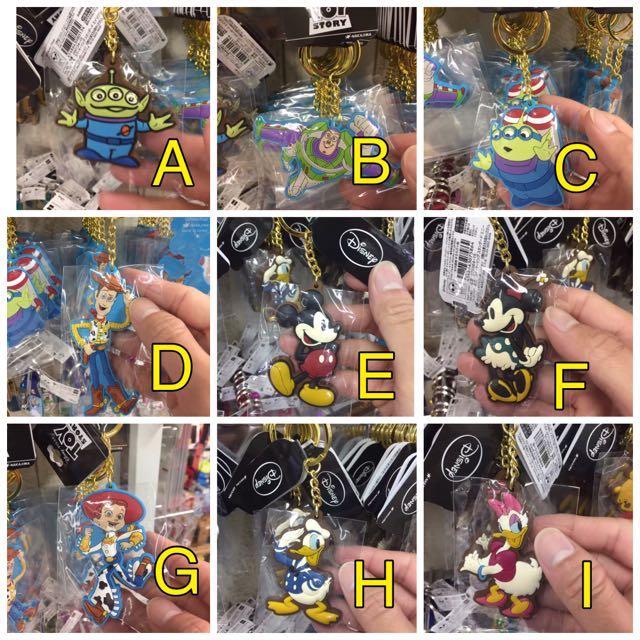 (迪士尼)玩具總動員 米老鼠 三眼怪 鑰匙吊飾 吊飾