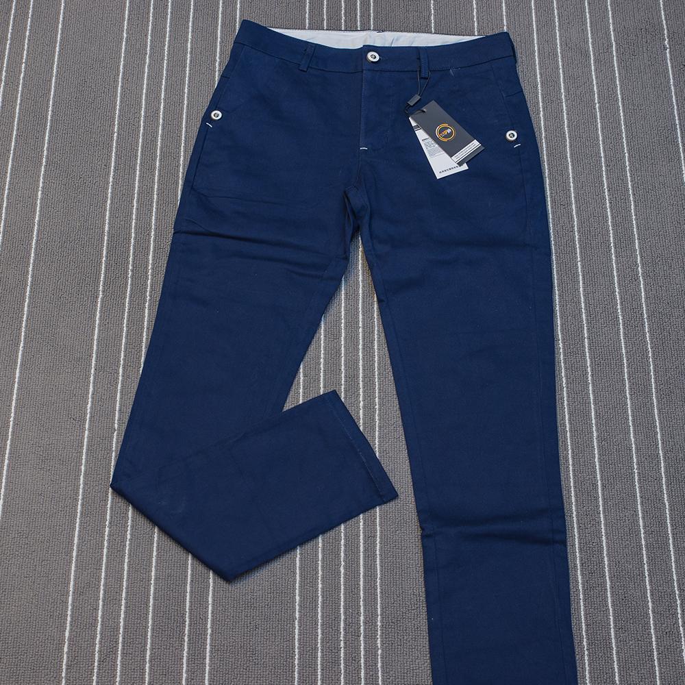 全新 深藍 長褲 修身 直筒