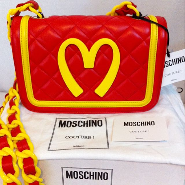 f2331fdb57 💯% Authentic Moschino Jeremy Scott MCapsule McDonald's Quilted Sling  Crossbody Bag Complete Set (BN), Luxury, Bags & Wallets on Carousell