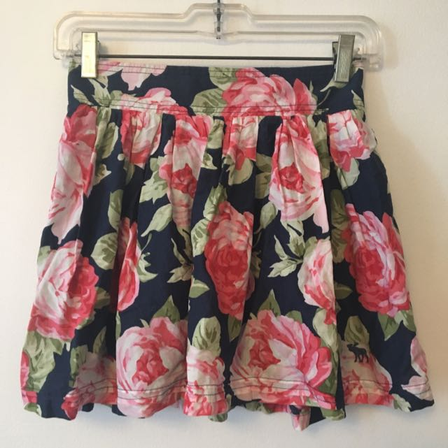 A&F Floral Skirt