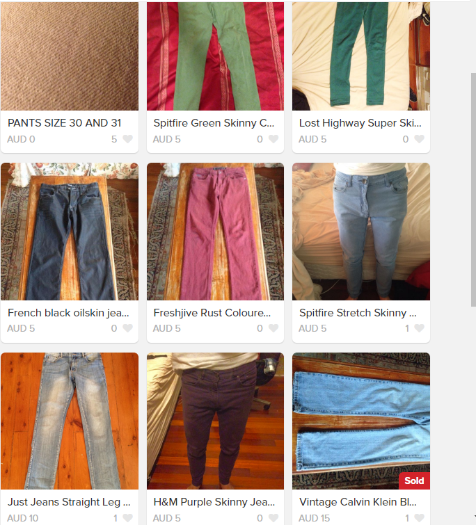 ALL JEANS AND CHINOS $5 (PRICE DROP)