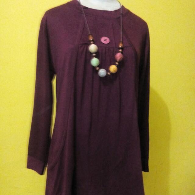 Baju Atasan Red Purple