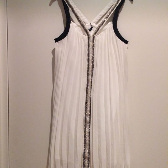 Bariano White Beaded Dress