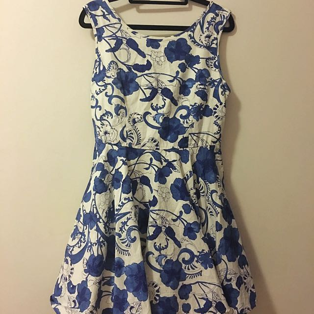 Blue And White Dress