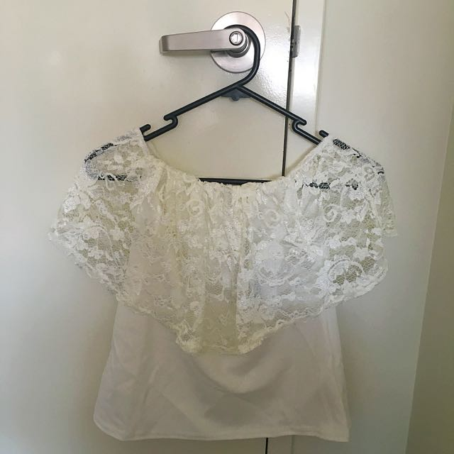 Boohoo Off Shoulder Lace Top