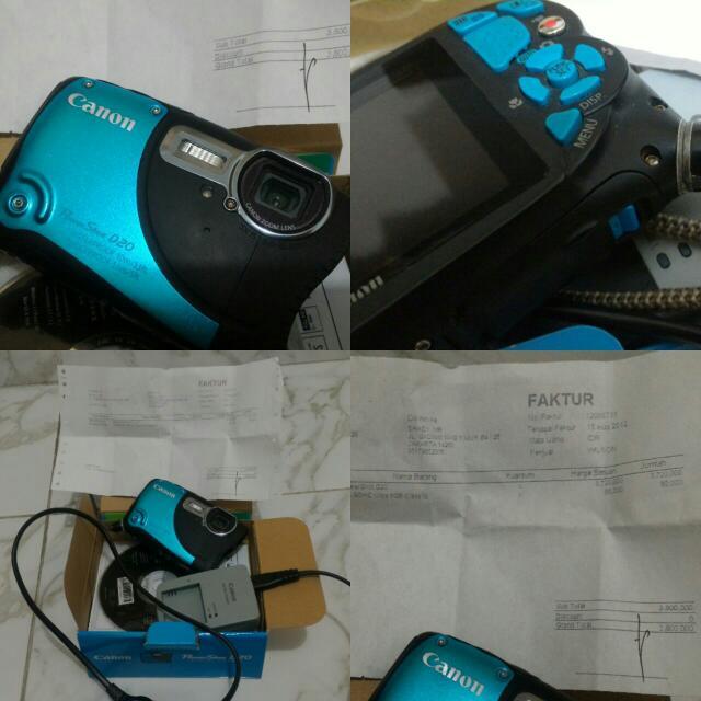 Camera CANON POWER SHOOT D20 UNDERWATER