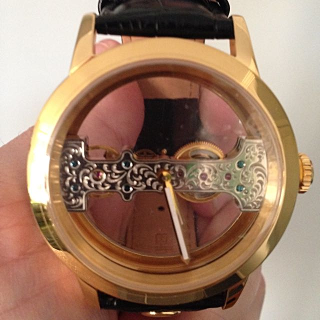 Carlo Monti Men's Hand winding Luca Watch Gold