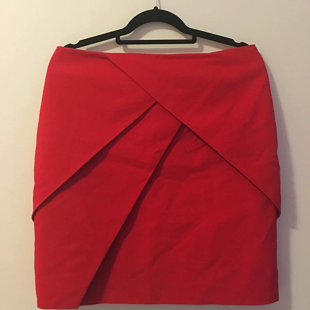 H&M Coral Mini Skirt