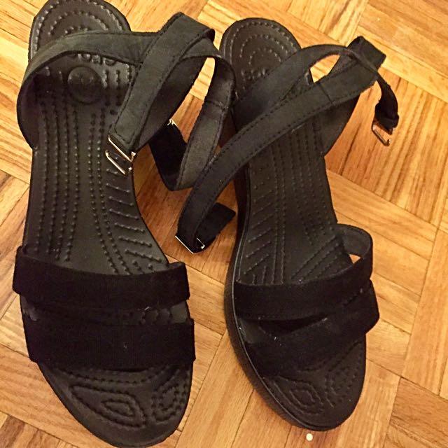 Crocs Wedges Black - Size 8