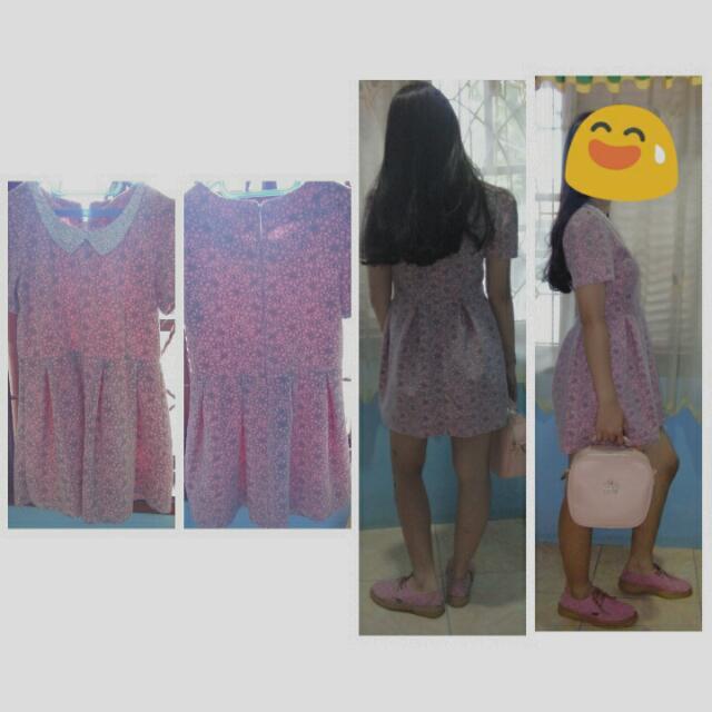 """Dres Soft Pink  Oleh"""" Dari Bangkok  Dijual Karna Kependekan Good Condision"""