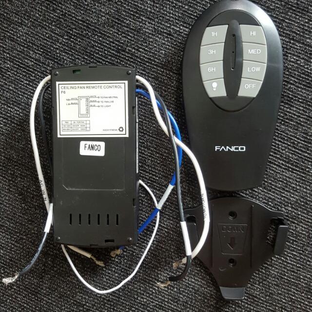 Fanco Ceiling Fan Remote Control Set Receiver Transmitter Bracket Furniture Others On Carou