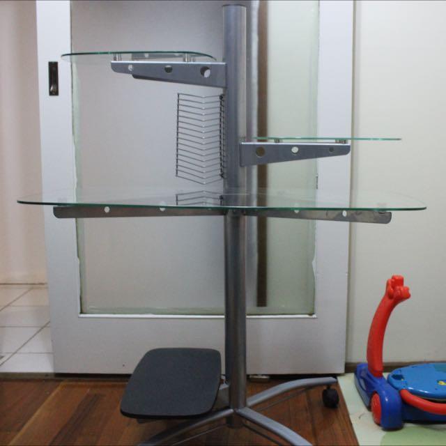 Glass iMac/laptop/desktop Computer Desk