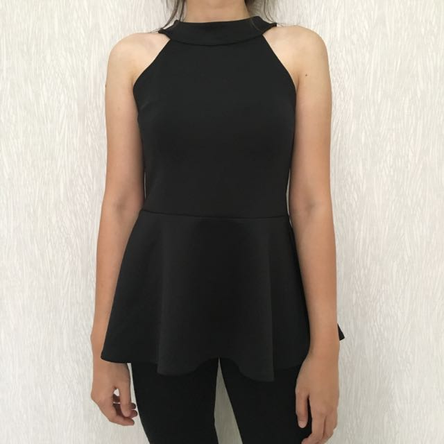 Halter Peplum Top