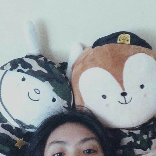 Hayang and Neukkeun Stuffed Toys