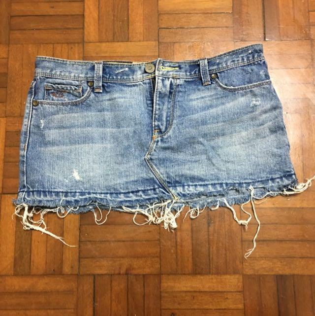 Hollister Jeans Skirt Bottom