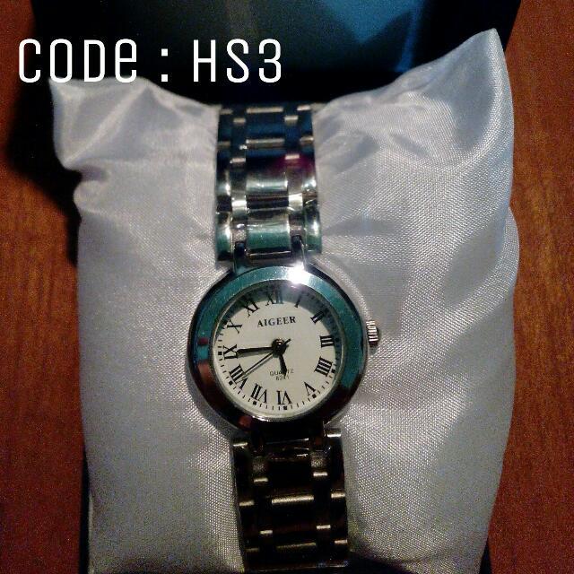 Jam Tangan Wanita Bidqi Silver Analog Code : HS3