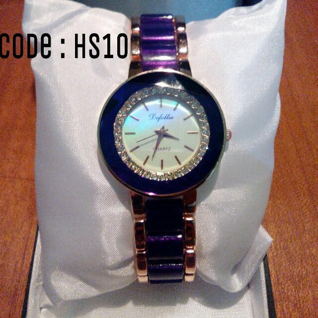 Jam Tangan Wanita Deffolie Purple Code : HS10