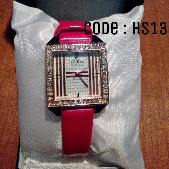 Jam Tangan Wanita Red Guess Code : HS13