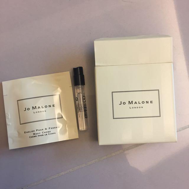 Jo Malone 潤膚與針管小香小盒試用