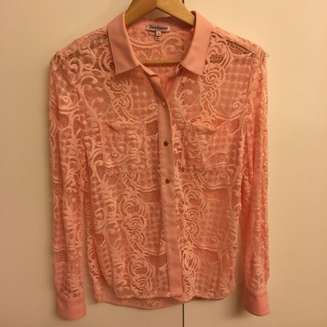 Juicy Couture 超美蕾絲襯衫 (含店到店運)