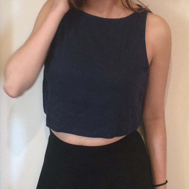 Kookai Crop Top Navy