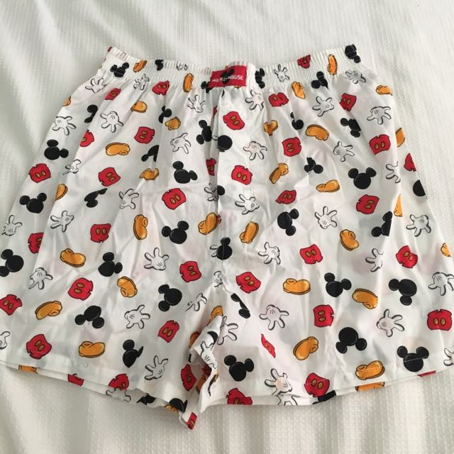 Mickey Mouse Head Ladies Boxer Shorts