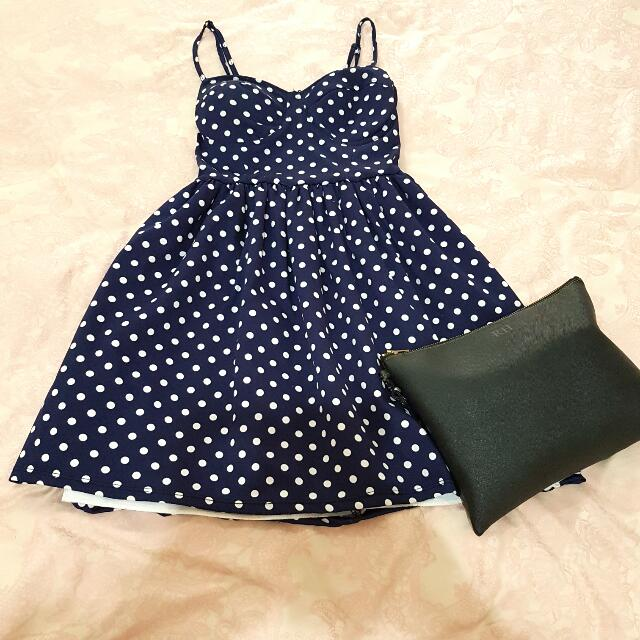 Navy Bustier Summer Dress