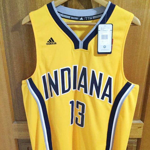NBA溜馬喬治哥黃色球衣