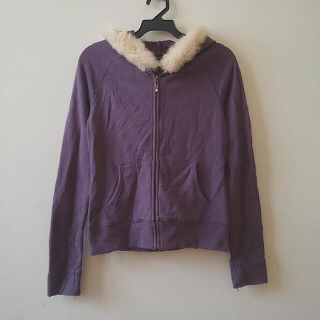 NET 紫色雙口袋連帽外套 #外套特賣