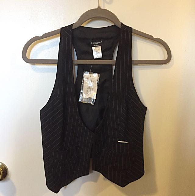 NEW Guess Pinstripe Vest