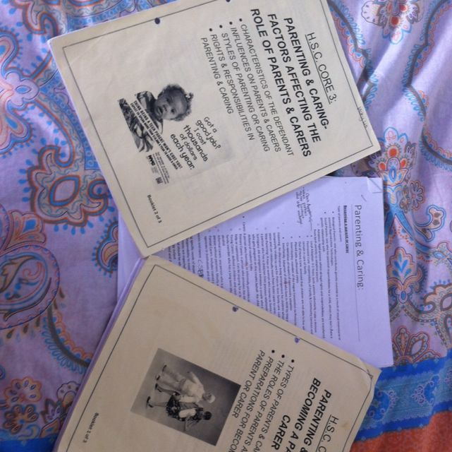 Parenting And caring CAFS HSC Core 3 Booklet 1&2