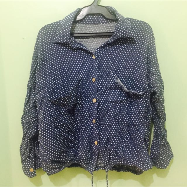 Polka Dot Polo Longsleeves
