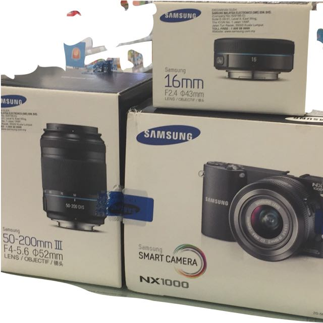 Samsung NX1000 With zoom Lens And Pancake lens
