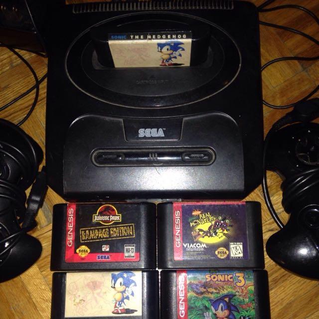 Sega Genesis All Cords Fully Functional