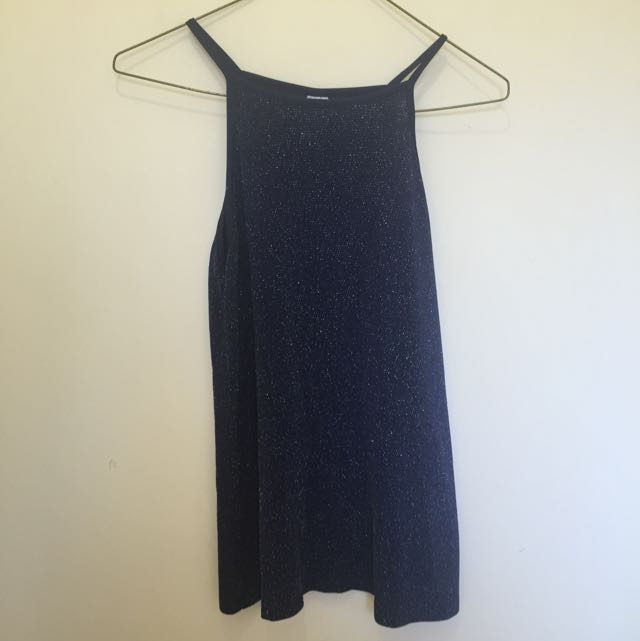 Sparkly High Neck Top Size 8